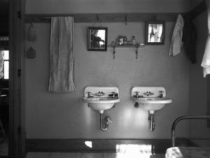 Farmhouse Washroom, 1936 by Russell Lee