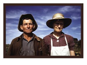 Jim Norris and Wife, Homesteaders by Russell Lee