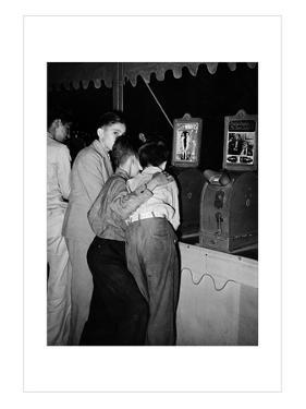 Penny Movies at the South Louisiana State Fair by Russell Lee