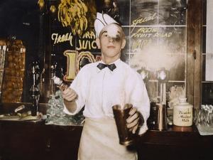 Soda Jerk, 1939 by Russell Lee