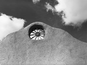 Wagon Wheel Set in Adobe House by Russell Lee