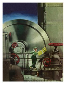 """How to Operate a Power Plant,"" October 2, 1943 by Russell Patterson"