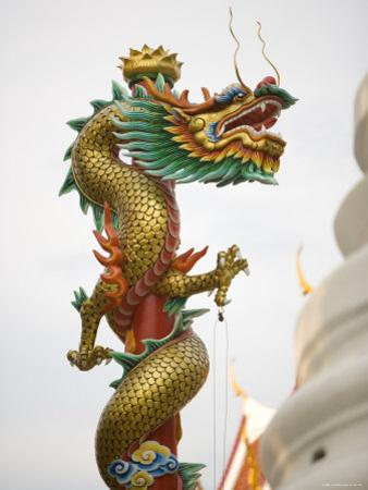 Chinese Dragon, Golden Mount, Wat Saket Temple, Bangkok, Thailand by Russell Young