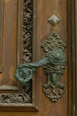 door handle, Hluboka Castle, Czech Republic, Ceske Budejovice by Russell Young