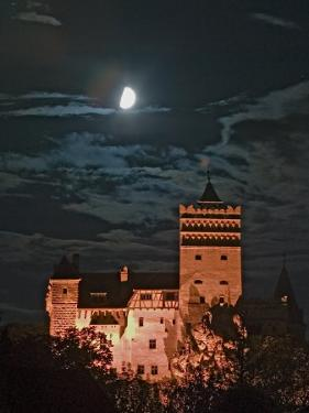Dracula Castle at Night, Bran Castle, Transylvania, Romania by Russell Young