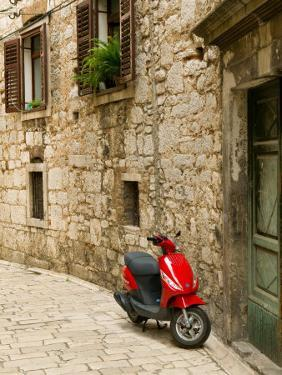 Moped in Alley, Sibenik, Croatia by Russell Young