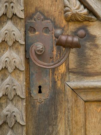 Old Door Handle, Ceske Budejovice, Czech Republic by Russell Young