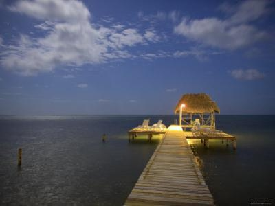 Pier, Caye Caulker, Belize by Russell Young