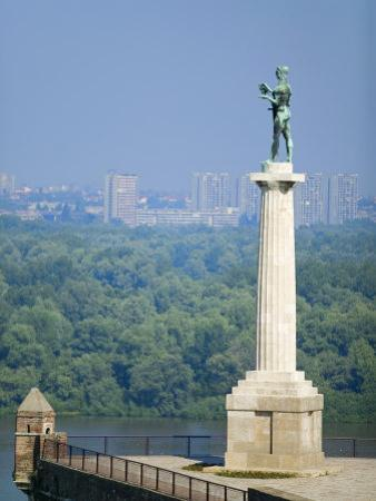 Statue of Pobednik, Kalemegdan, Belgrade, Serbia
