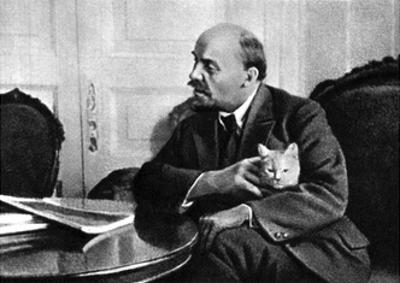 Russian Bolshevik Leader Vladimir Ilich Lenin in His Kremlin Appartment, Moscow, Russia, 1920