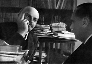 Russian Bolshevik Leader Vladimir Lenin and British Author Hg Wells, October 1920