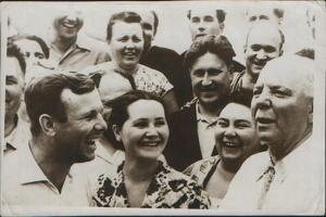 Russian Cosmonaut Yuri Gagarin with His Wife, 1962