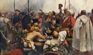 Russian Cossacks Sending a Message of Scorn to the Turkish Army in Constantinople