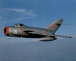 Russian Mig 15 (Mig-15 Fighter Plane) Art Poster Print
