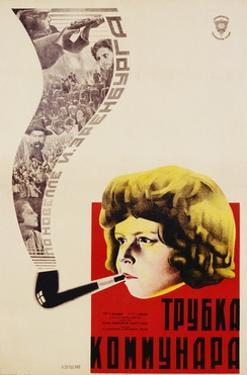 Russian Movie Poster Depicting a Child Smoking a Pipe