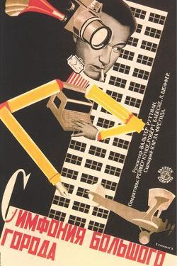 Russian Movieposter with Buikding