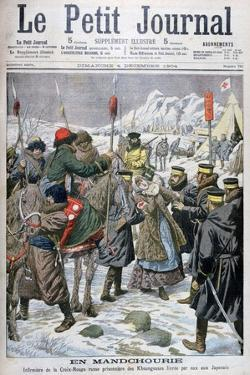 Russian Nurse Taken Prisoner by the Manchus Being Handed over to the Japanese, Manchuria, 1904