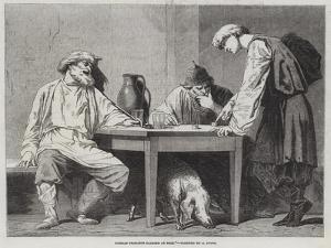 Russian Peasants Playing at Dice