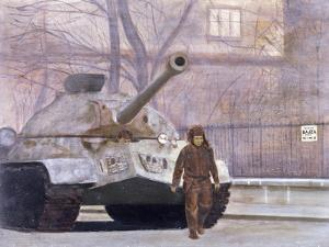 Russian Tank in Budapest in 1956