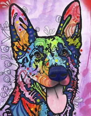Shepherd Love, Dogs, Pets, Ears, Happy, Panting, Tongue, Love, Pop Art, Colorful, Stencils by Russo Dean