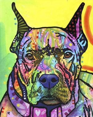 Stare Down, Dogs, Pets, Eyes, Look, Challenge, Animals, Colorful, Stencils, Pop Art, Yellow by Russo Dean