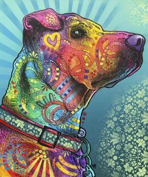 Style Eyes, Dogs, Sunburst, Rays, Heart, Love, Pets, Animals, Stencils, Pop Art by Russo Dean