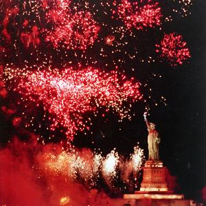 Statue of Liberty Fourth of July by Rusty Kennedy