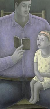 Man reading to Girl by Ruth Addinall