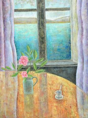 Still Life in Window with Camellia, 2012 by Ruth Addinall