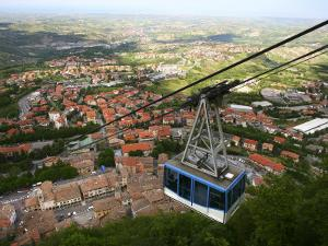 Cable Car Ascending to Medieval Centre of San Marino on Titan Mountain by Ruth Eastham & Max Paoli