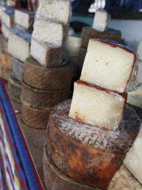 Goat's Cheese on Farmers' Market Stall Near Plaza Nuestra Senora Del Pino by Ruth Eastham & Max Paoli