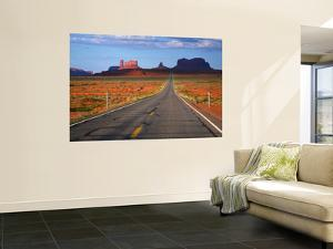 Interstate 163 Approaching Monument Valley with Sentinel Mesa in Backgound by Ruth Eastham & Max Paoli