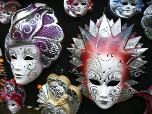 Painted Masks in Souvenir Shop by Ruth Eastham & Max Paoli