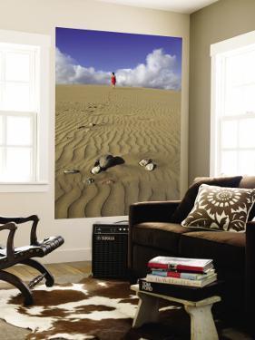 Woman Walking on Sand Dune in Maspalomas Dunes (Dunas De Maspalomas) by Ruth Eastham & Max Paoli