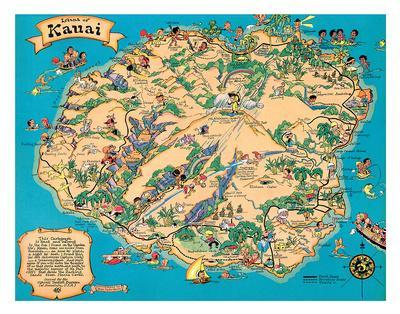 Maps of Hawaii Posters for sale at AllPosterscom