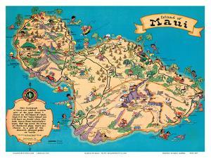 Affordable maps of hawaii posters for sale at allposters hawaiian island of maui hawaii tourist bureau by ruth taylor white gumiabroncs Image collections