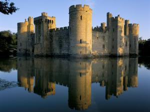 Bodiam Castle Reflected in Moat, Bodiam, East Sussex, England, United Kingdom by Ruth Tomlinson