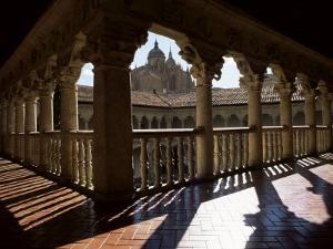 Cathedral Viewed from the Cloisters of Las Duenas Convent, Salamanca, Castile Leon, Spain by Ruth Tomlinson