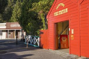 Historic building evoking the west coast's gold-mining past, Shantytown, Greymouth, Grey district,  by Ruth Tomlinson