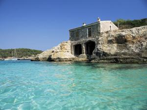 Stone Dwelling Overlooking Bay, Cala Mondrago, Majorca, Balearic Islands, Spain by Ruth Tomlinson