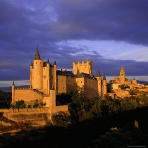 The Alcazar and Cathedral at Sunset, Segovia, Castilla Y Leon, Spain by Ruth Tomlinson