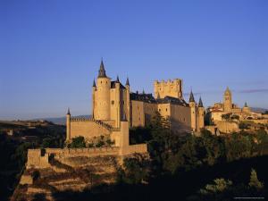 The Alcazar and Cathedral, Segovia, Castilla Y Leon, Spain by Ruth Tomlinson