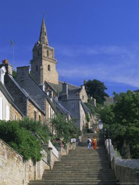 The Brelevenez Church and Steps, Lannion, Cotes d'Armor, Brittany, France, Europe by Ruth Tomlinson