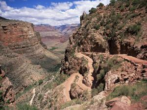 The Bright Angel Trail, Beneath the South Rim, Grand Canyon National Park, Arizona, USA by Ruth Tomlinson
