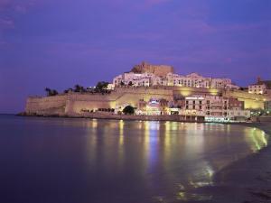 The Citadel by Night, Peniscola, Costa Del Azahar, Valencia, Spain, Mediterranean by Ruth Tomlinson