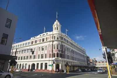 The historic Allied Press Building on the corner of Cumberland Street and Stuart Street, Dunedin, O