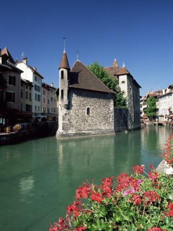 The Palais De L'Isle in the Thiou River, Annecy, Haute-Savoie, Rhone-Alpes, France, Europe by Ruth Tomlinson