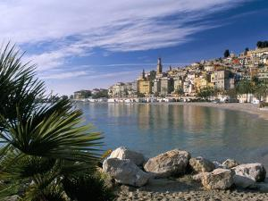 View Across Bay to the Old Town, Menton, Alpes-Maritimes, Provence by Ruth Tomlinson
