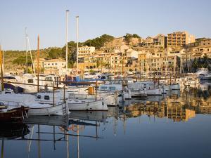 View across the Harbour at Sunrise, Port De Soller, Mallorca, Balearic Islands, Spain, Mediterranea by Ruth Tomlinson