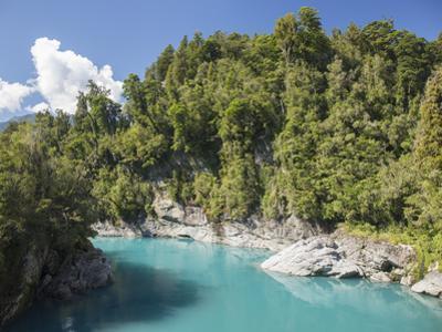 View along the Hokitika River, Hokitika Gorge, Kowhitirangi, near Hokitika, Westland district, West